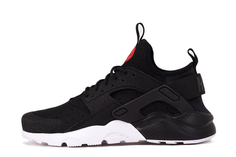 AIR HUARACHE RUN ULTRA PRM (GS) - BLACK / RED / WHITE
