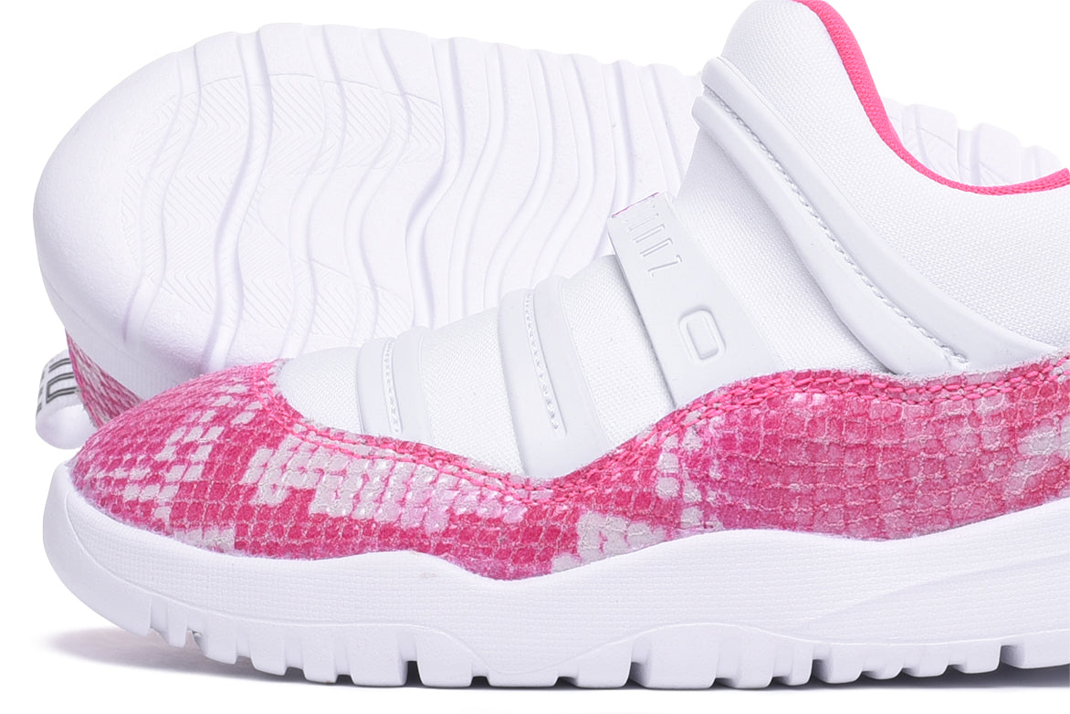 "AIR JORDAN 11 RETRO LOW LITTLE FLEX (PS) ""PINK SNAKESKIN"""