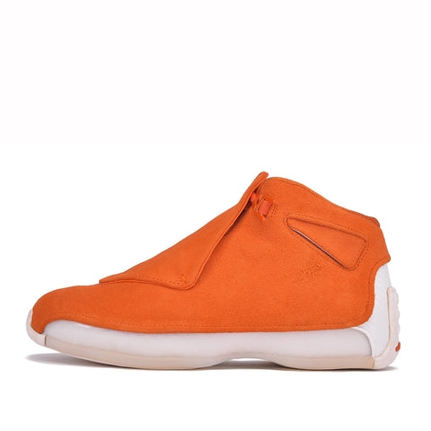"AIR JORDAN 18 RETRO ""SUEDE PACK"" - CAMPFIRE ORANGE"