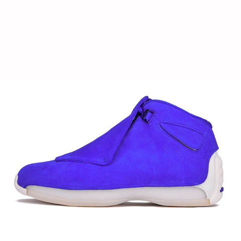 "AIR JORDAN 18 RETRO ""SUEDE PACK"" - RACER BLUE"