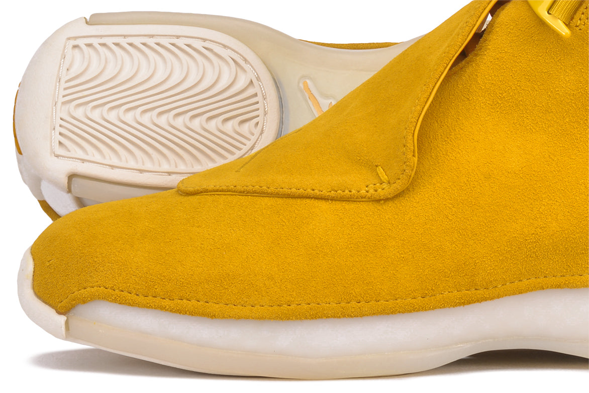 "AIR JORDAN 18 RETRO ""SUEDE PACK"" - YELLOW OCHRE"