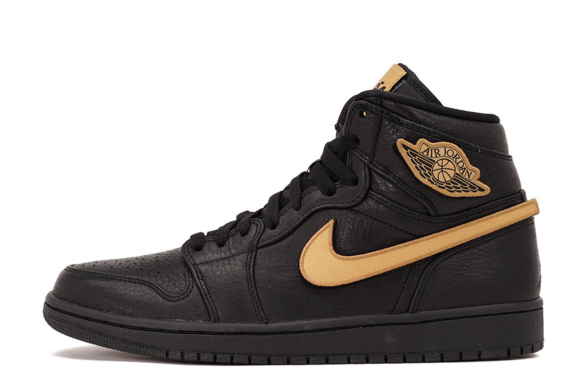 AIR JORDAN 1 RETRO HIGH BHM - BLACK / METALLIC GOLD ...