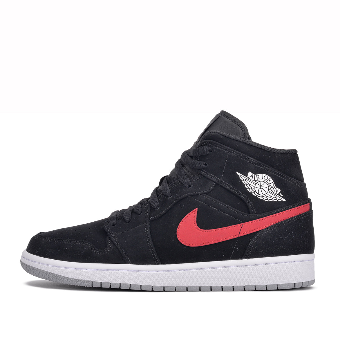 8b230096b3d8f AIR JORDAN 1 MID - BLACK   UNIVERSITY RED