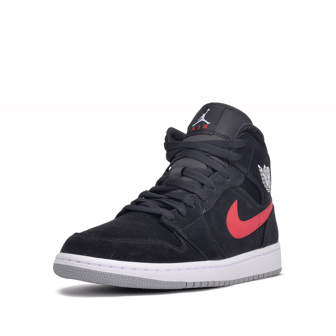promo code 3b2a1 09c5f ... AIR JORDAN 1 MID - BLACK   UNIVERSITY RED ...