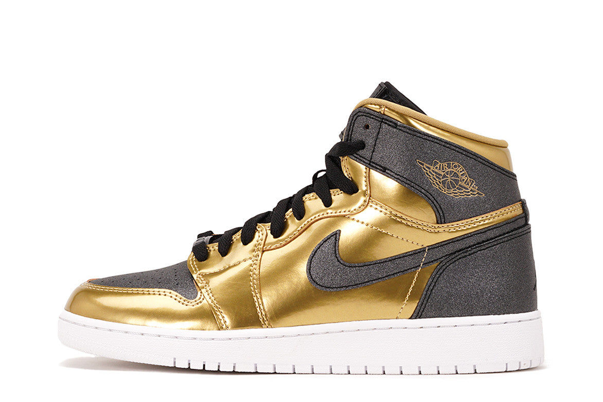 AIR JORDAN 1 RETRO HIGH BHM (GS) - METALLIC GOLD / BLACK ...
