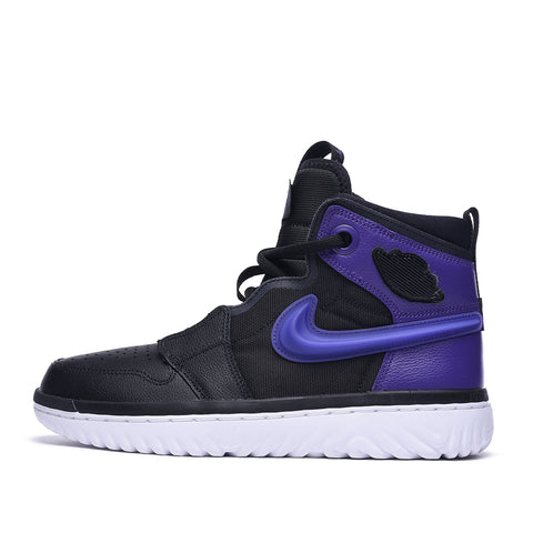 AIR JORDAN 1 HIGH REACT - BLACK / COURT PURPLE