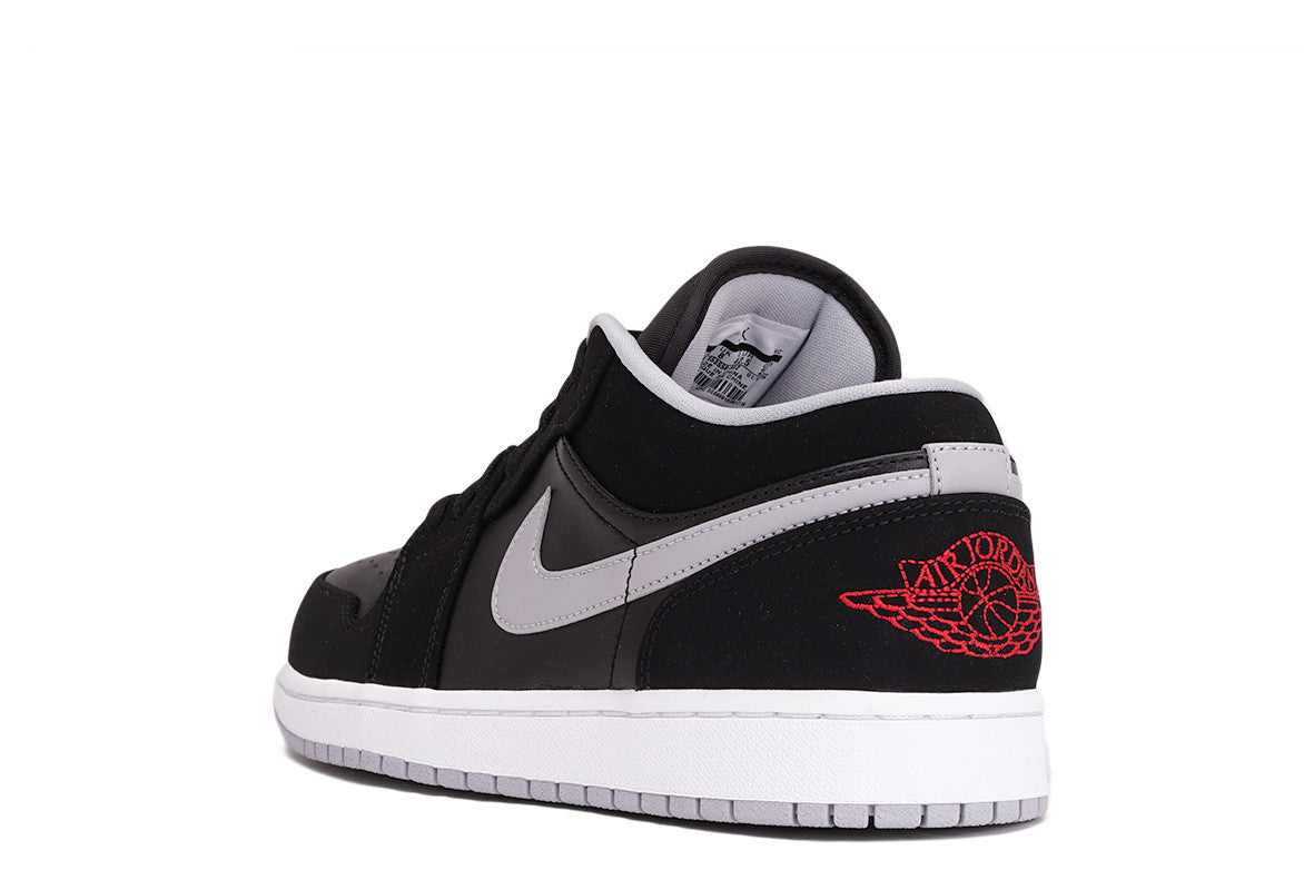 AIR JORDAN 1 LOW - BLACK / GYM RED / WHITE