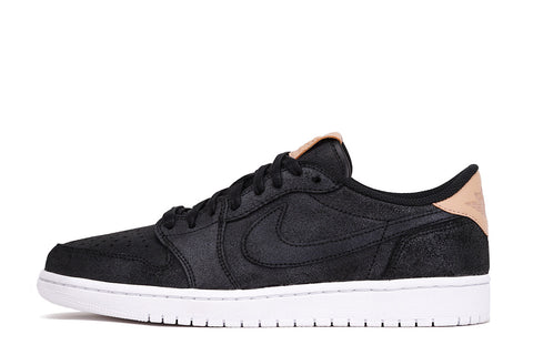 "AIR JORDAN 1 LOW OG PREMIUM ""VACHETTA TAN"" PACK - BLACK"