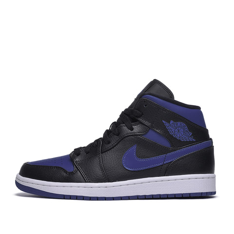 AIR JORDAN 1 MID - BLACK / HYPER ROYAL / WHITE