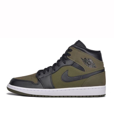 AIR JORDAN 1 MID - OLIVE CANVAS / BLACK
