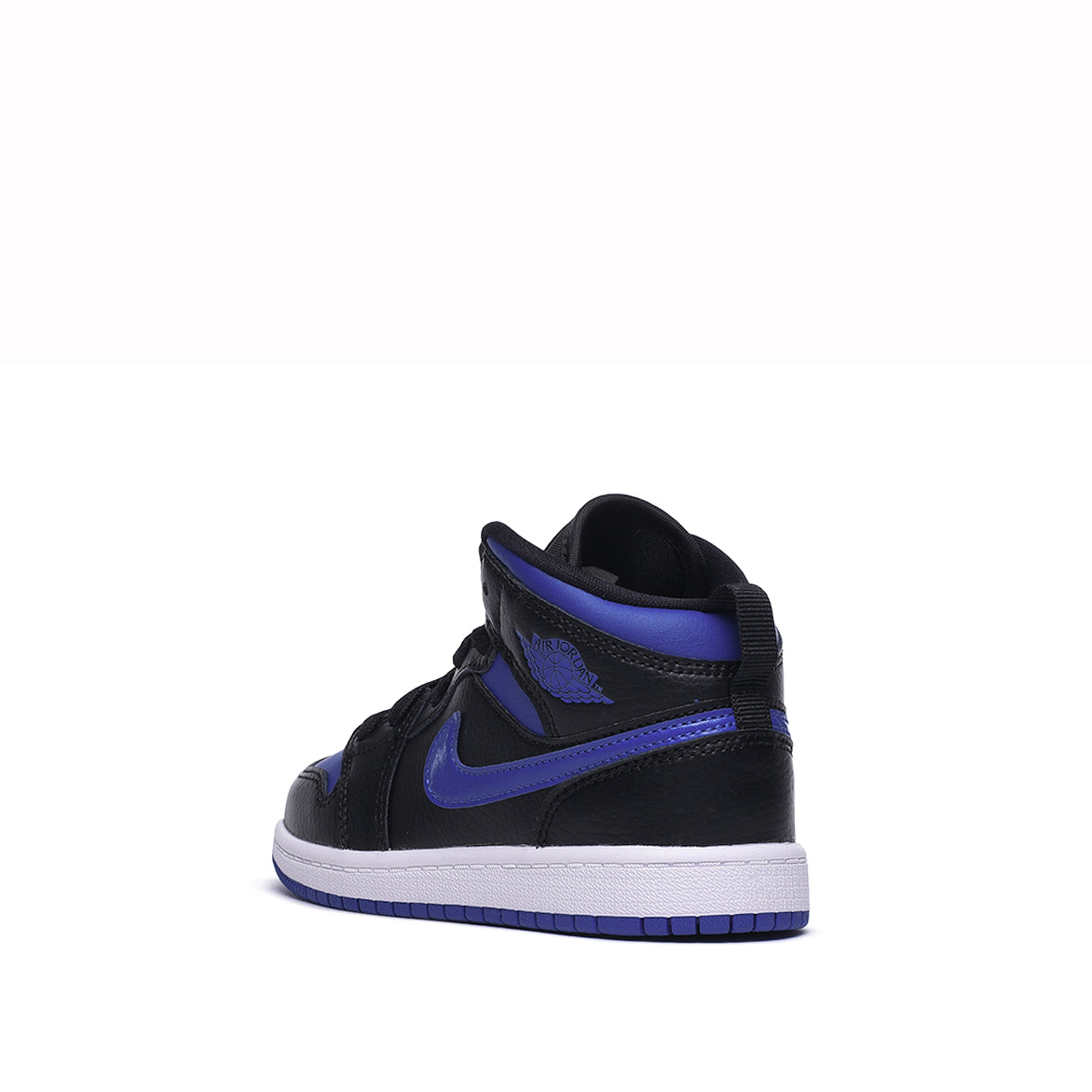 AIR JORDAN 1 MID (PS) - BLACK / HYPER ROYAL / WHITE