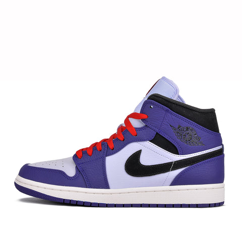 AIR JORDAN 1 MID SE - ROYAL / BLACK / RED