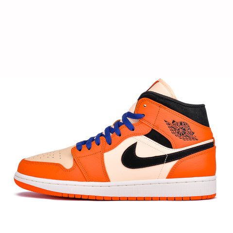 AIR JORDAN 1 MID SE - TEAM ORANGE / BLACK / WHITE