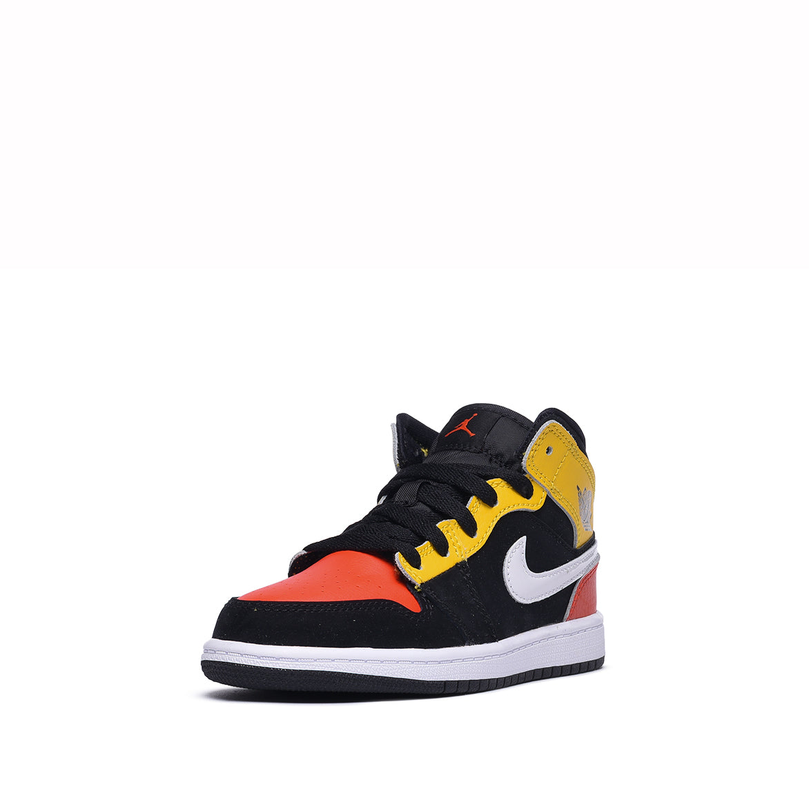 AIR JORDAN 1 MID SE (PS) - BLACK / TEAM ORANGE / AMARILLO