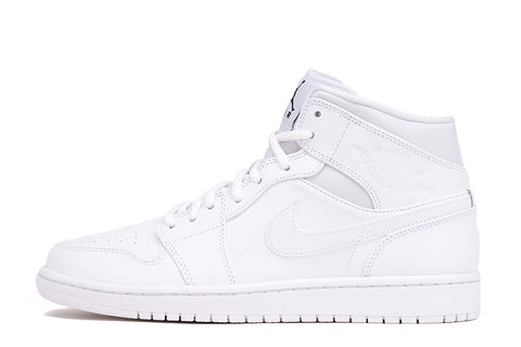AIR JORDAN 1 MID - WHITE