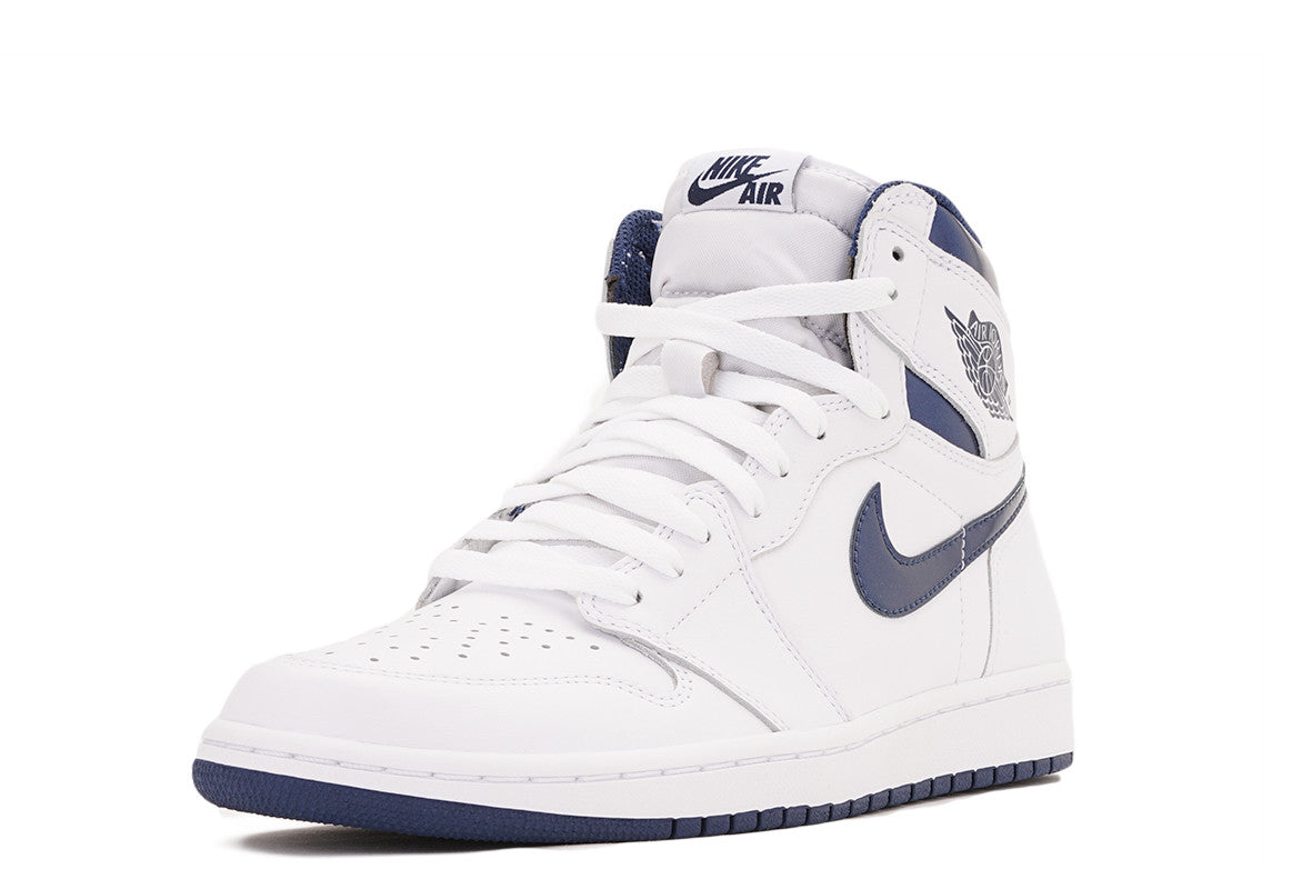 "AIR JORDAN 1 RETRO HIGH OG (GS) ""METALLIC NAVY"""