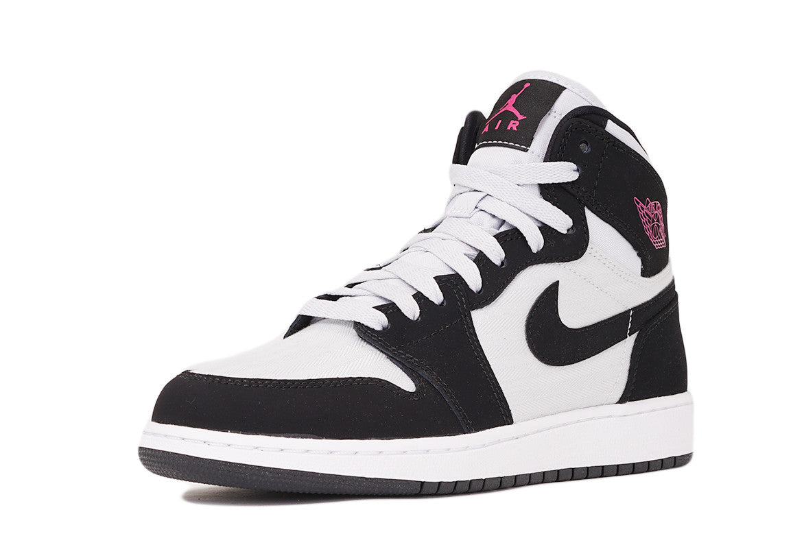 AIR JORDAN 1 RETRO HIGH (GG) - BLACK / PURE PLATINUM / PINK