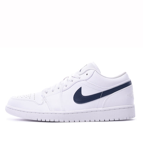AIR JORDAN 1 LOW - WHITE / OBSIDIAN