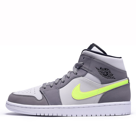 AIR JORDAN 1 MID - GUNSMOKE / VOLT