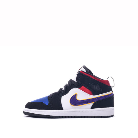 AIR JORDAN 1 MID SE (PS) - BLACK / FIELD PURPLE