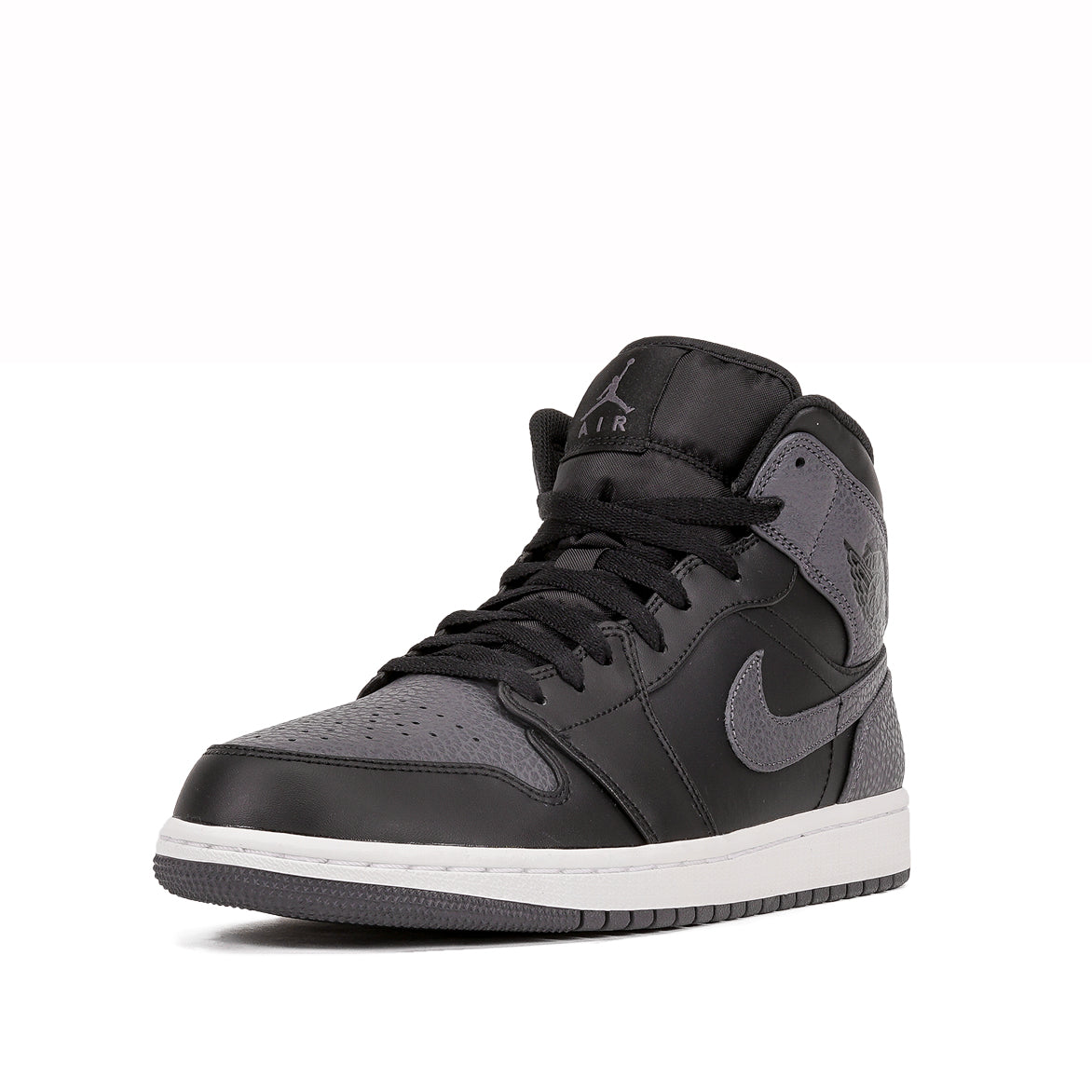 AIR JORDAN 1 MID - BLACK / DARK GREY