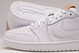 "AIR JORDAN 1 LOW OG PREMIUM ""VACHETTA TAN"" PACK - WHITE"