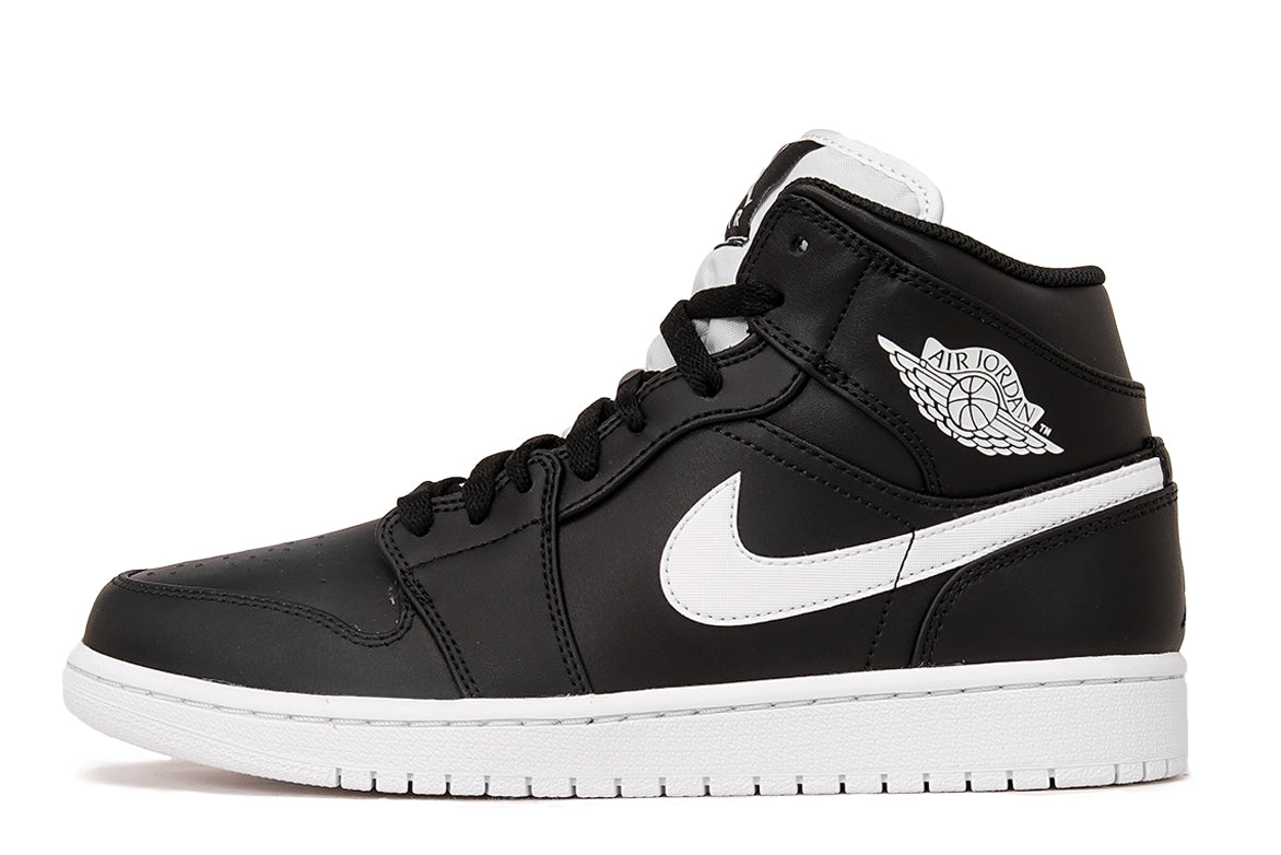 AIR JORDAN 1 MID - BLACK   WHITE  198dad8bf