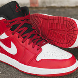 AIR JORDAN 1 MID - GYM RED / WHITE / BLACK