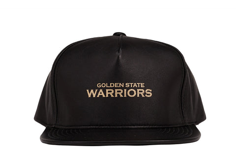 GOLD FOIL LAMBSKIN SNAPBACK - WARRIORS