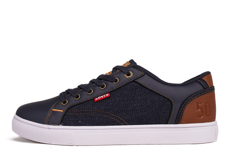 JEFFREY 501 DENIM - NAVY / TAN