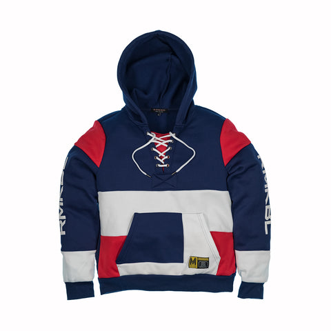 MAD CITY FLEECE HOODIE - NAVY