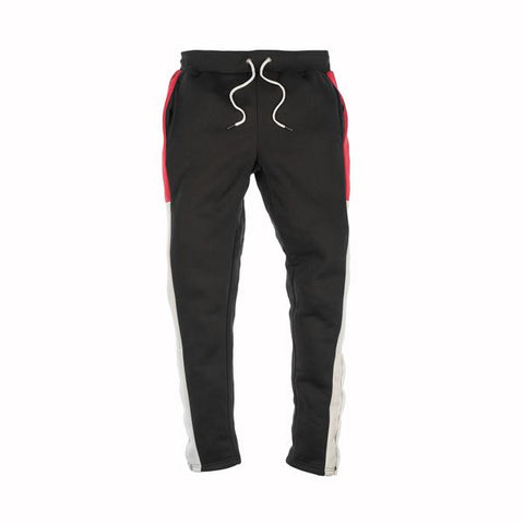 MAD CITY FLEECE PANTS - BLACK