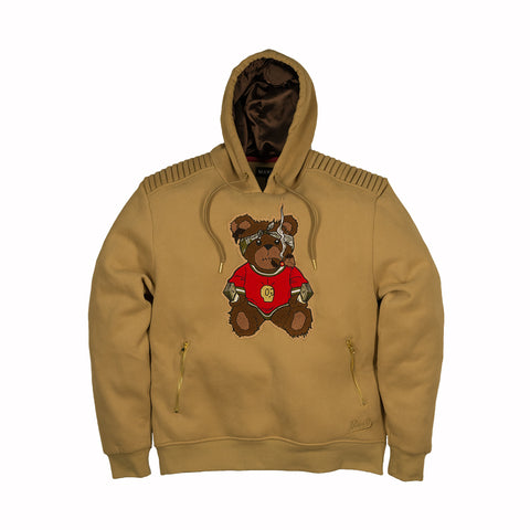 TEDDY BEAR FLEECE PULLOVER - KHAKI