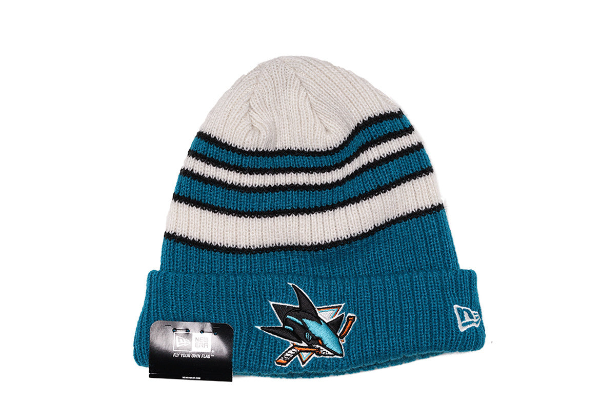 TRADITIONAL STRIPE KNIT HAT - SHARKS