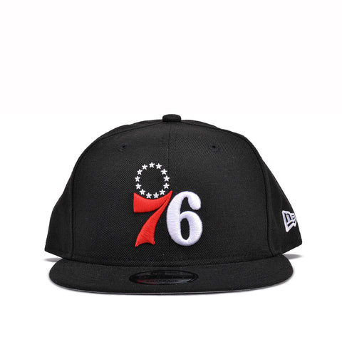 76ERS 9FIFTY LOGO SNAPBACK - BLACK