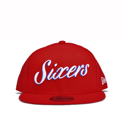 76ERS 9FIFTY SCRIPT SNAPBACK - RED