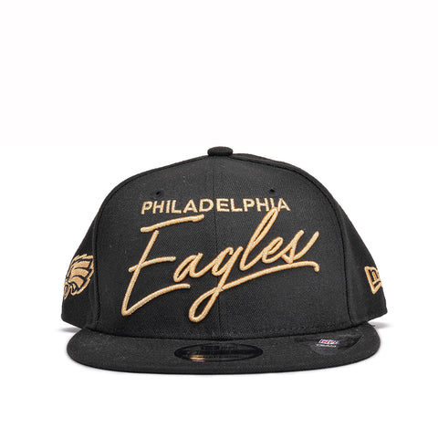 EAGLES SCRIPTED TURN 9FIFTY SNAPBACK - BLACK / GOLD