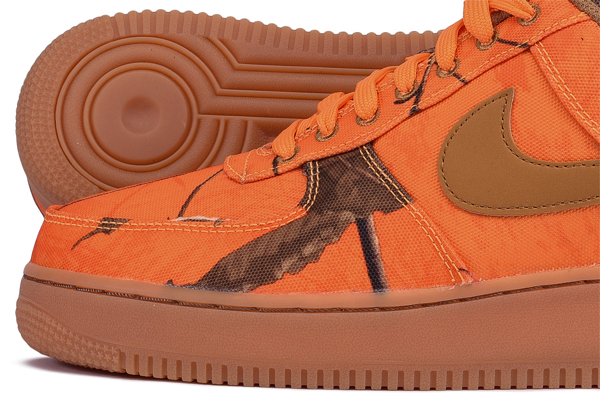 "AIR FORCE 1 `07 LV8 3 ""REALTREE PACK"" - ORANGE BLAZE / WHEAT"