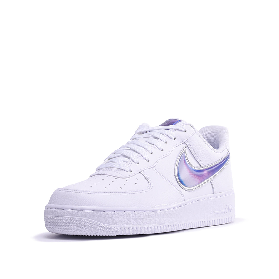 "AIR FORCE 1 `07 LV8 3 ""OVERSIZED SWOOSH"" - WHITE / PURPLE"