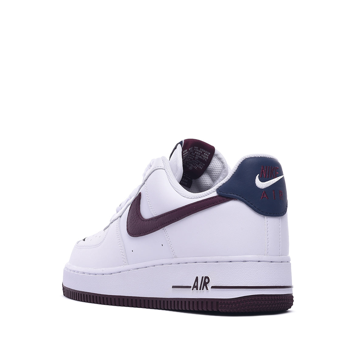"AIR FORCE 1 `07 LV8 4 ""SWOOSH PACK"" - WHITE / NIGHT MAROON / OBSIDIAN"