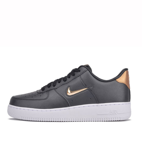 "AIR FORCE 1 `07 LV8 LOW ""JEWEL"" - BLACK / METALLIC GOLD"