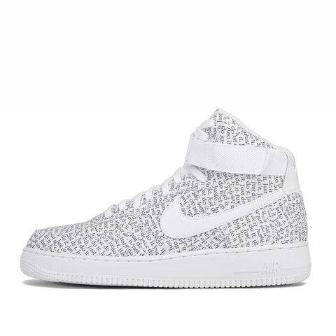 "AIR FORCE 1 HIGH `07 LV8 ""JUST DO IT"" - WHITE"