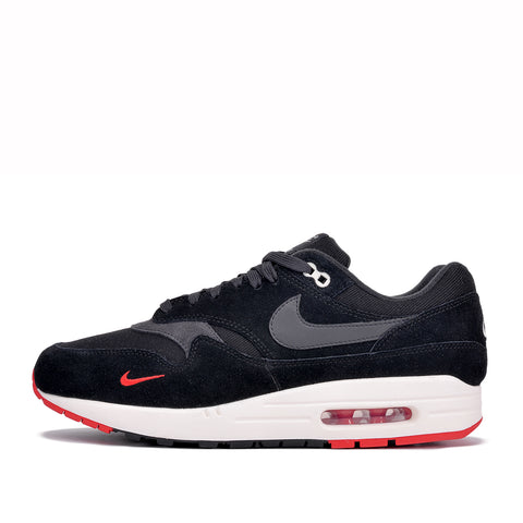 "AIR MAX 1 PREMIUM ""MINI SWOOSH"" - BLACK / UNIVERSITY RED"