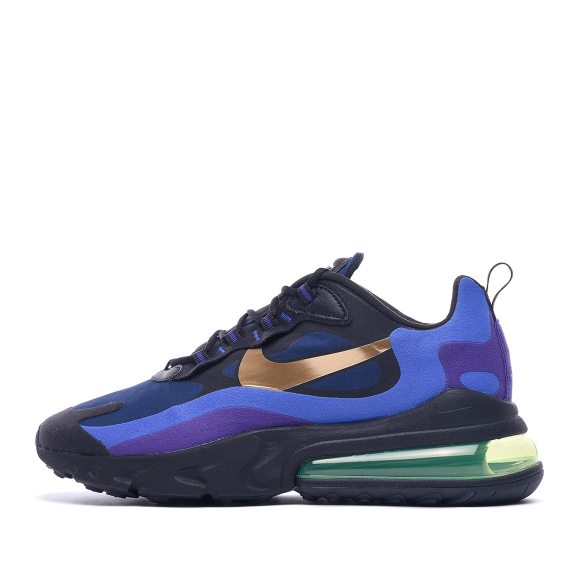 AIR MAX 270 REACT - BLACK / UNIVERSITY GOLD