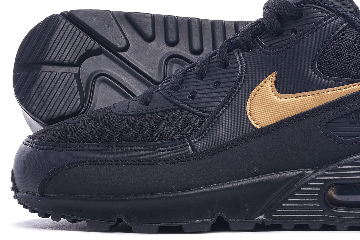 AIR MAX 90 ESSENTIAL - BLACK / METALLIC GOLD