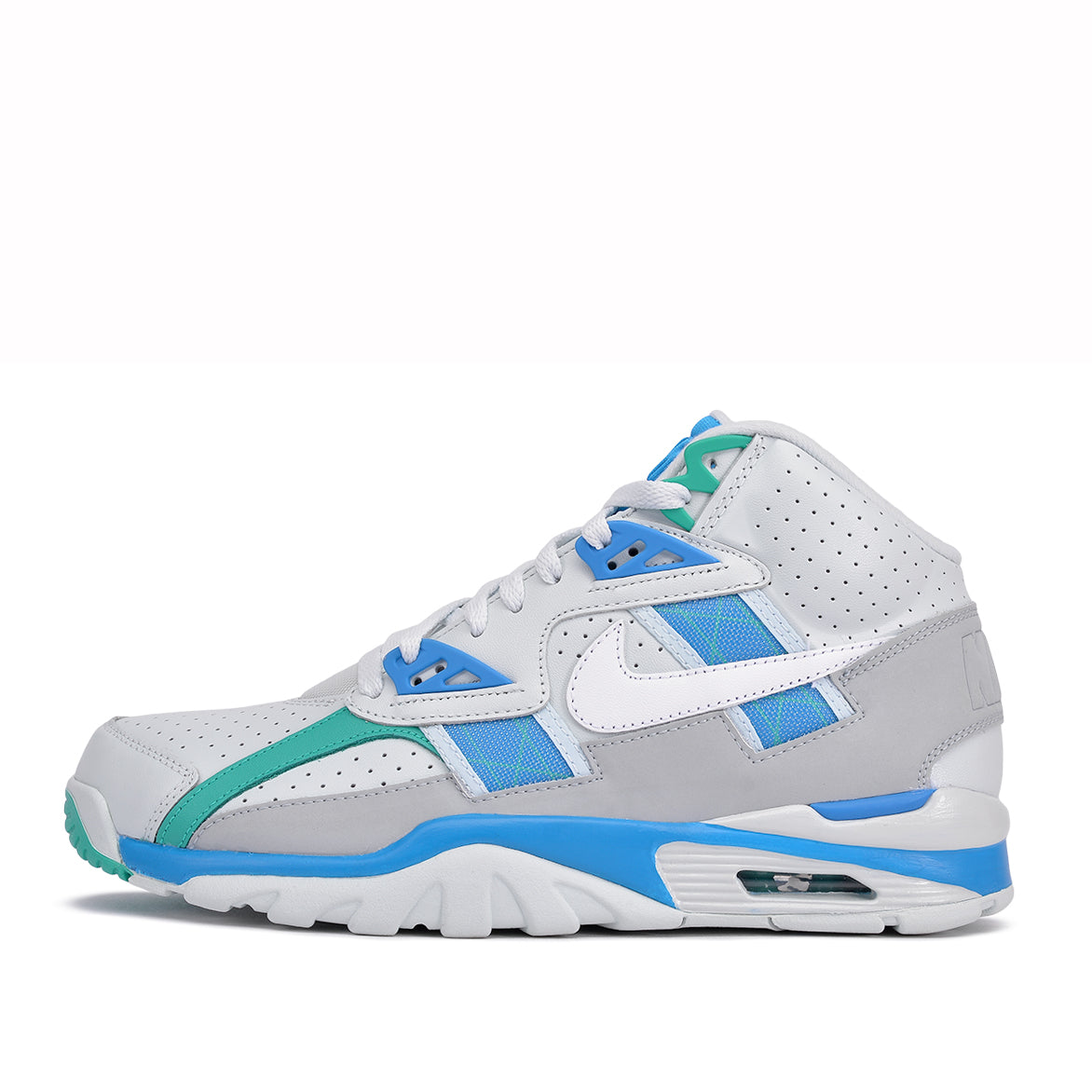 AIR TRAINER SC HIGH - BARELY GREY / WHITE / BLUE ORBIT