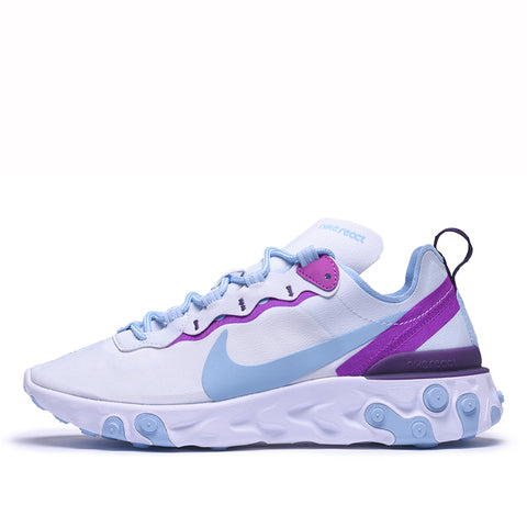 WMNS REACT ELEMENT 55 - FOOTBALL GREY / PSYCHIC BLUE