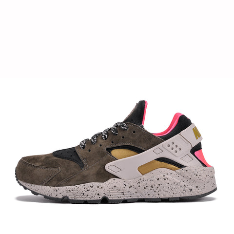 AIR HUARACHE RUN PRM - BLACK / DESERT MOSS