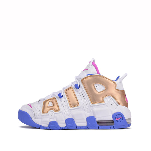 NIKE AIR MORE UPTEMPO (GS) - WHITE / FUCHSIA BLAST
