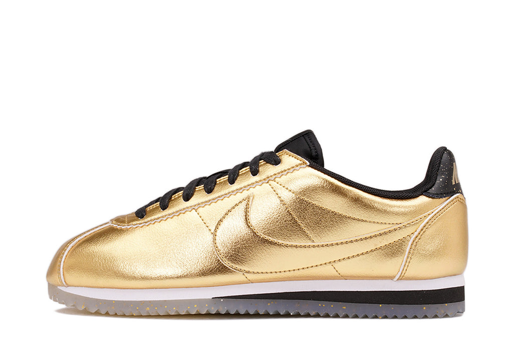 watch cf00d d084a WMNS CLASSIC CORTEZ LEATHER SE (WMNS) - METALLIC GOLD